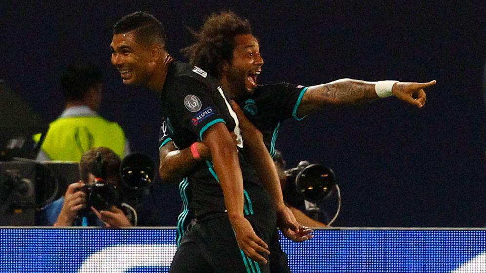 Foto: Casemiro y Marcelo, en la Supercopa. (Reuters)