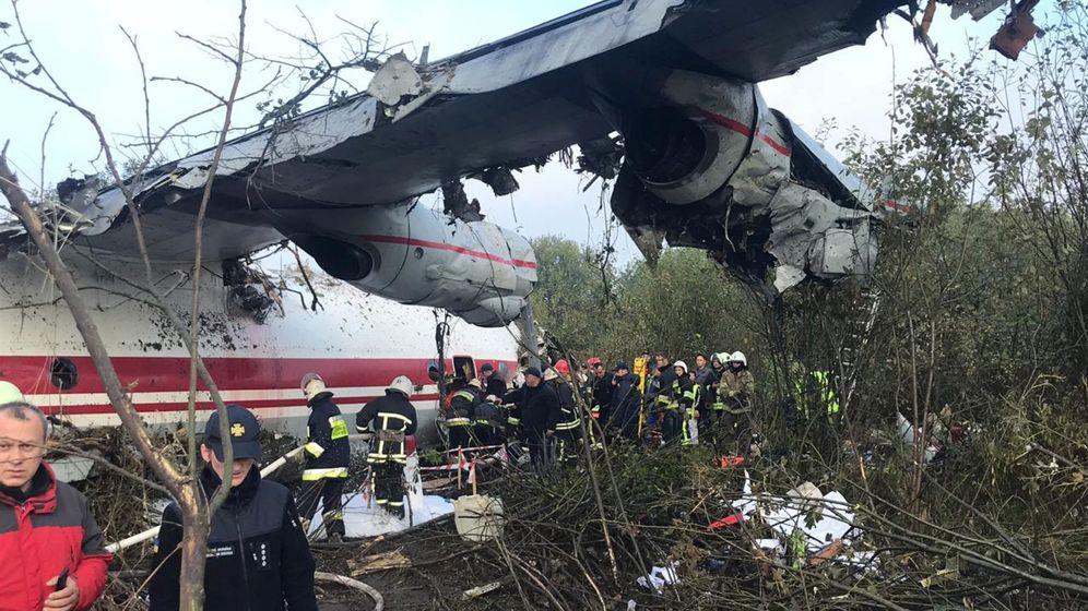 Foto: El avión siniestrado. (Reuters)