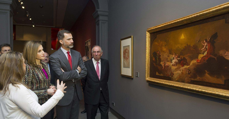 Foto: Reyes visitan exposición goya y zaragoza (1746-1775). sus raíces aragonesas