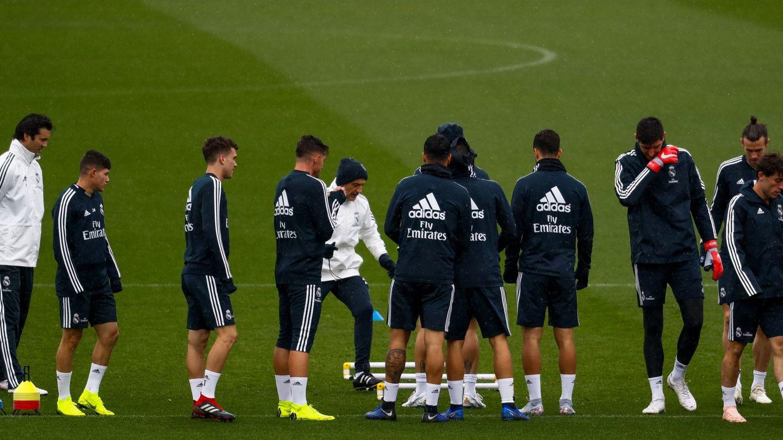 Solari, en su primer entrenamiento como técnico del Real Madrid. (EFE)