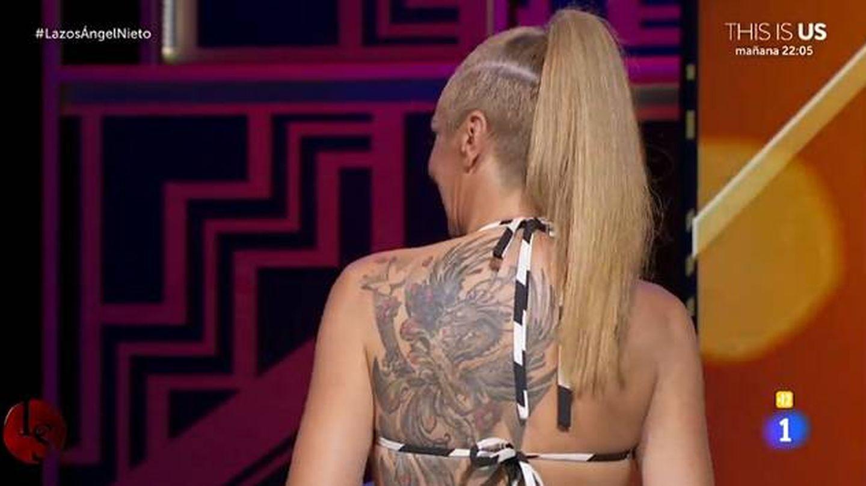 El tatuaje de Rocío Carrasco. (TVE)