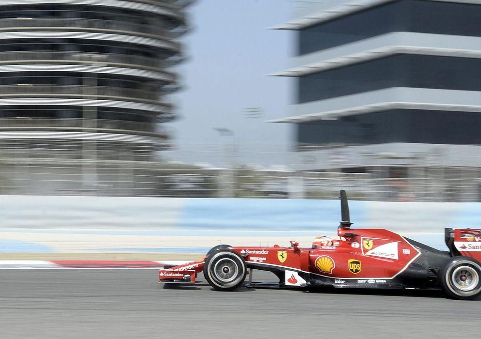 Foto: Kimi Raikkonen en el primer día de pruebas del último test en Bahrein.