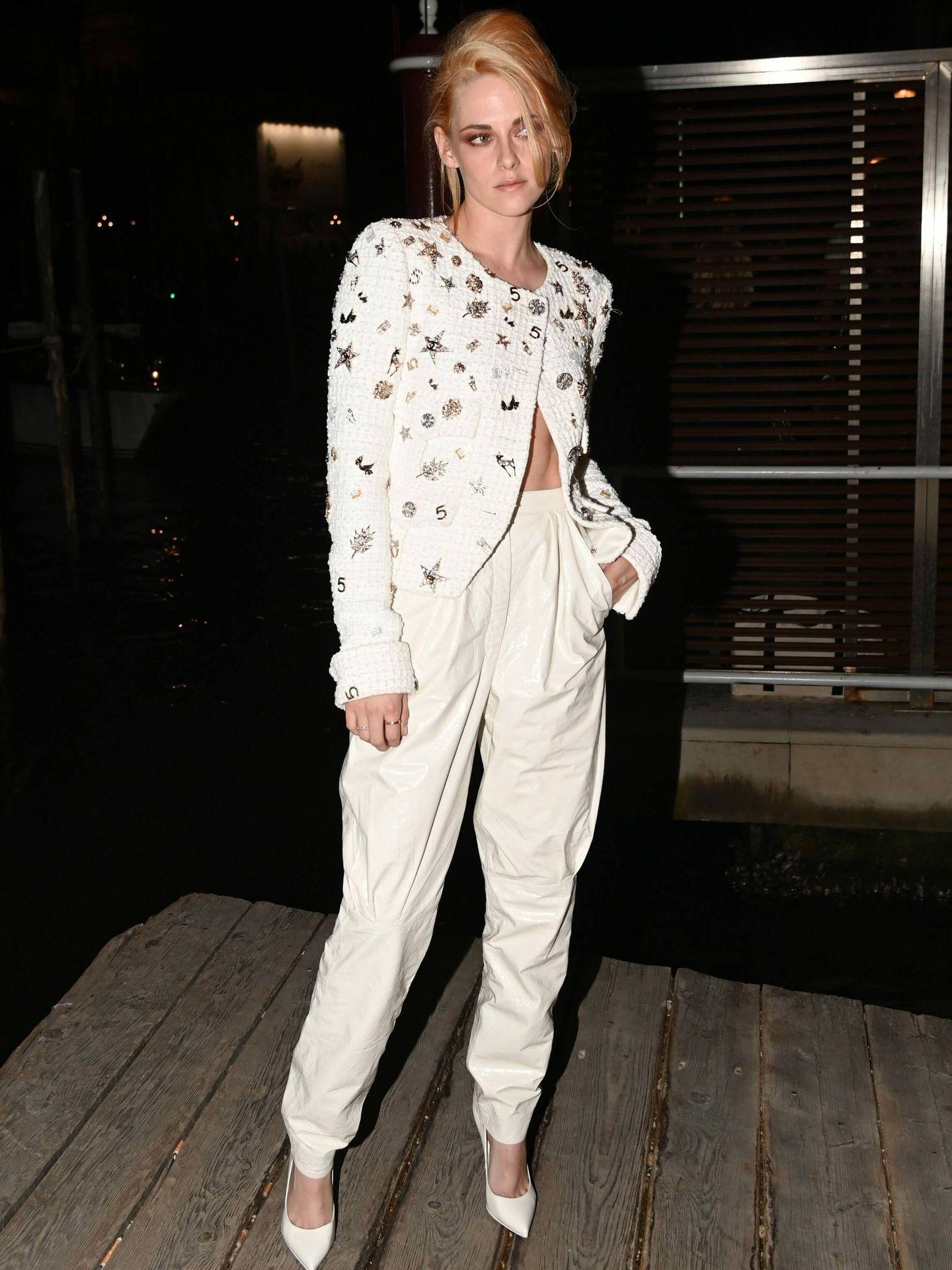Kristen Stewart, en Venecia en la fiesta de Yves Saint Laurent. (Cordon Press)
