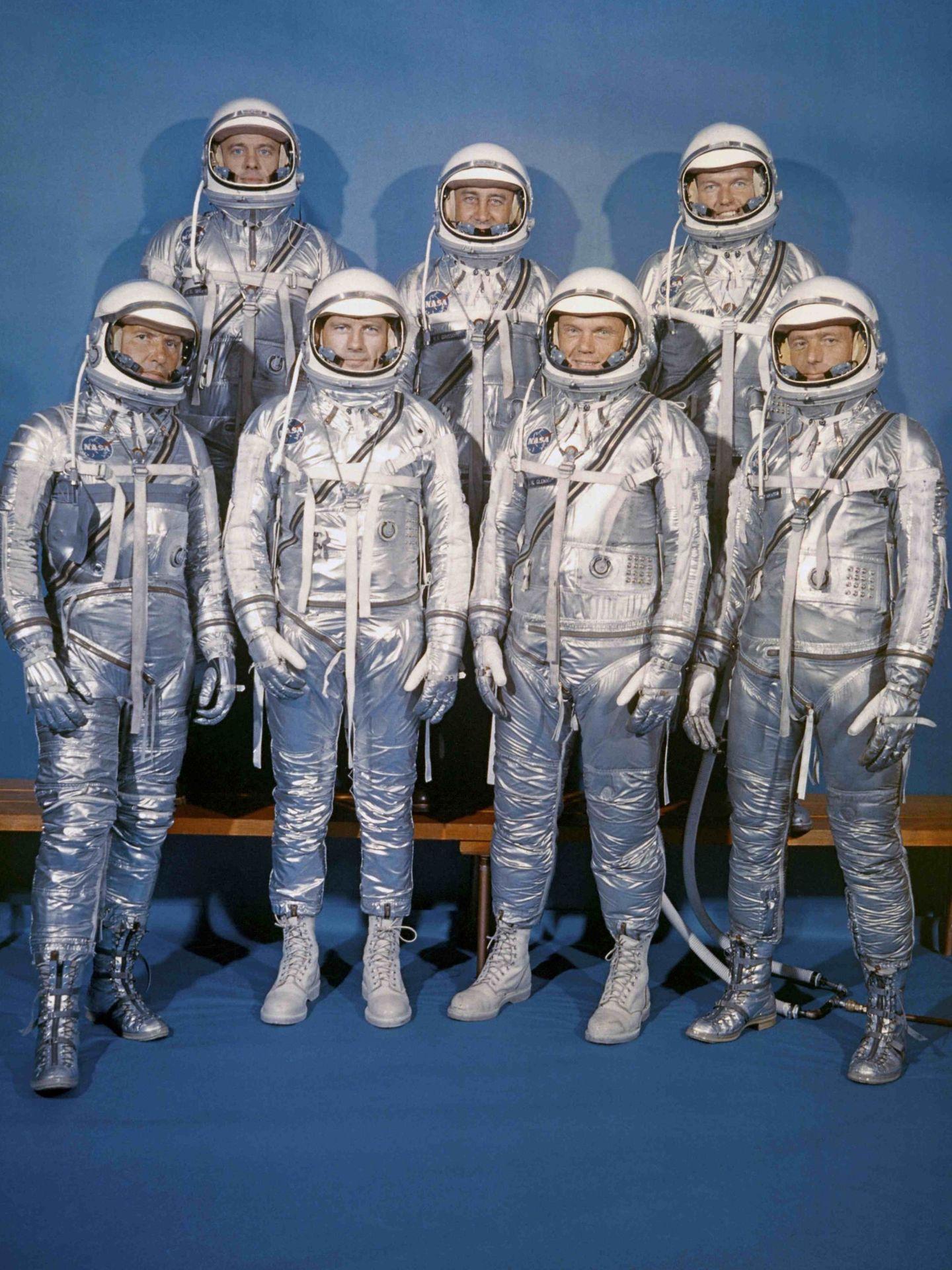 La misión Mercury 7. Scott aparece en la fila inferior a la derecha. (Reuters)