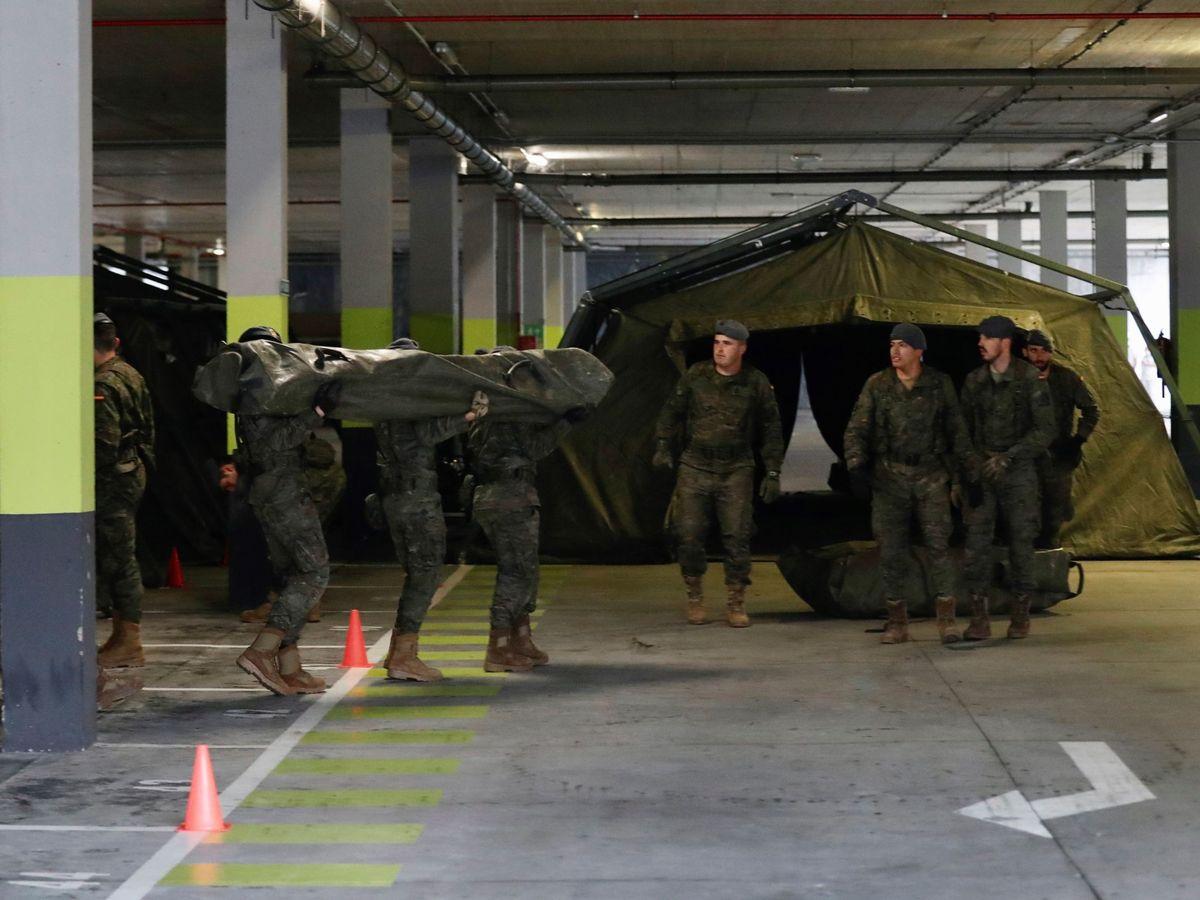Foto: El Ejército inició este jueves la instalación de un hospital militar de campaña de unos 400 metros cuadrados.