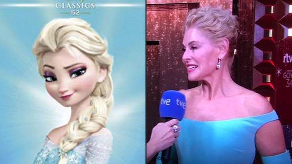 Foto:  'Frozen' vs Belén Rueda. (Twitter)