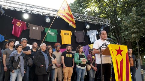 El líder de las CUP, en la ocupación del Mobile World Centre de Barcelona
