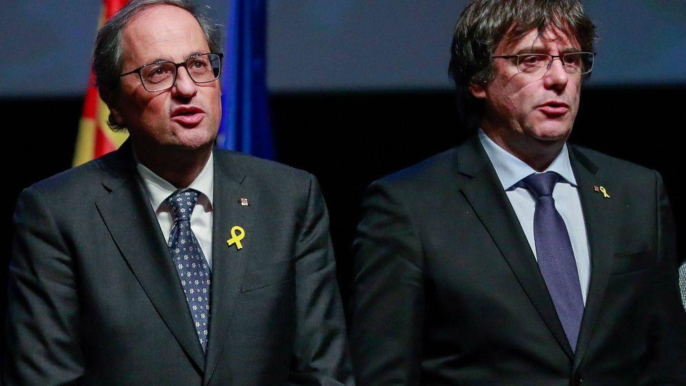Foto: Quim Torra y Carles Puigdemont en Bélgica. (EFE)