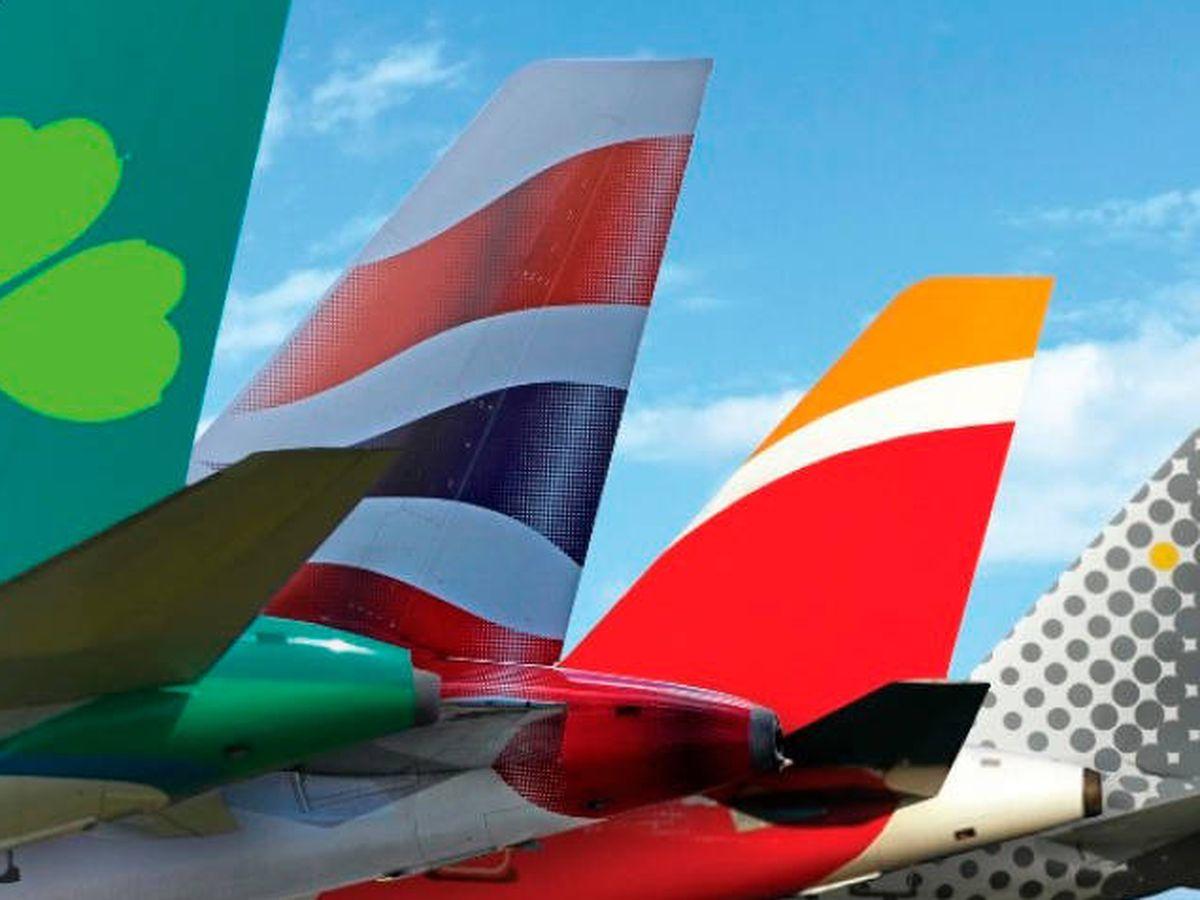 Foto: Logos de las cuatro compañías de IAG
