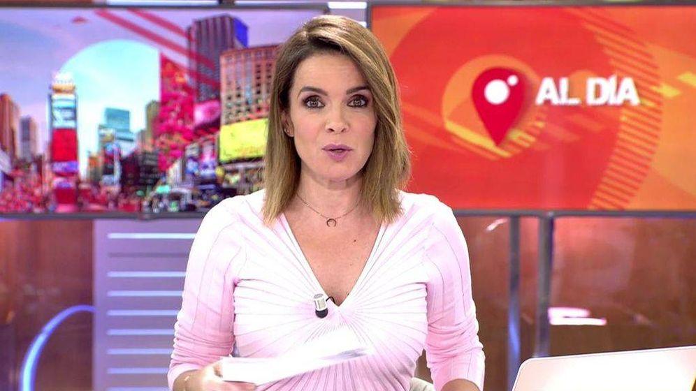 Foto: Carme Chaparro en 'Cuatro al día'. (Mediaset España)