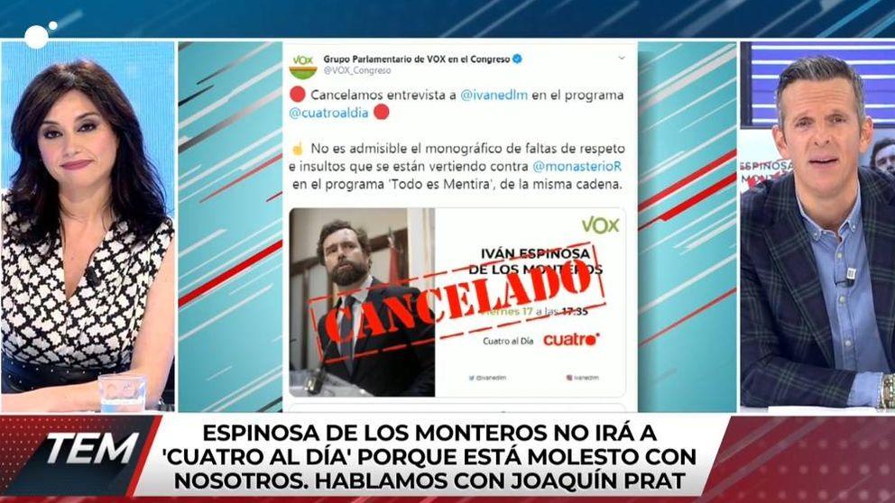 Vox deja plantado a Joaquín Prat por las críticas a Rocío Monasterio en 'TEM'