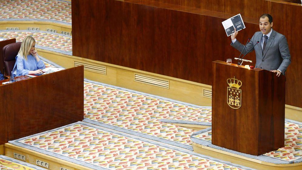 Foto: Ignacio Aguado, en la Asamblea de Madrid.