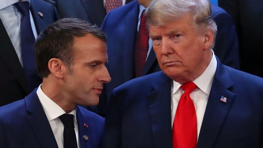 Foto: El presidente de Francia, Emmanuel Macron, junto al de EEUU, Donald Trump. (Reuters)