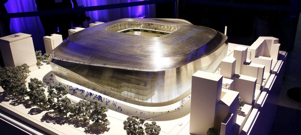 Foto: Proyecto de la ampliación del Santiago Bernabéu (Efe).