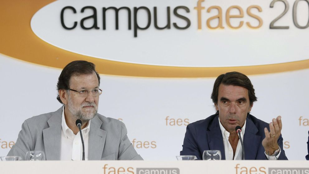 Aznar y Rajoy rompen su último vínculo con el arrinconamiento de Faes