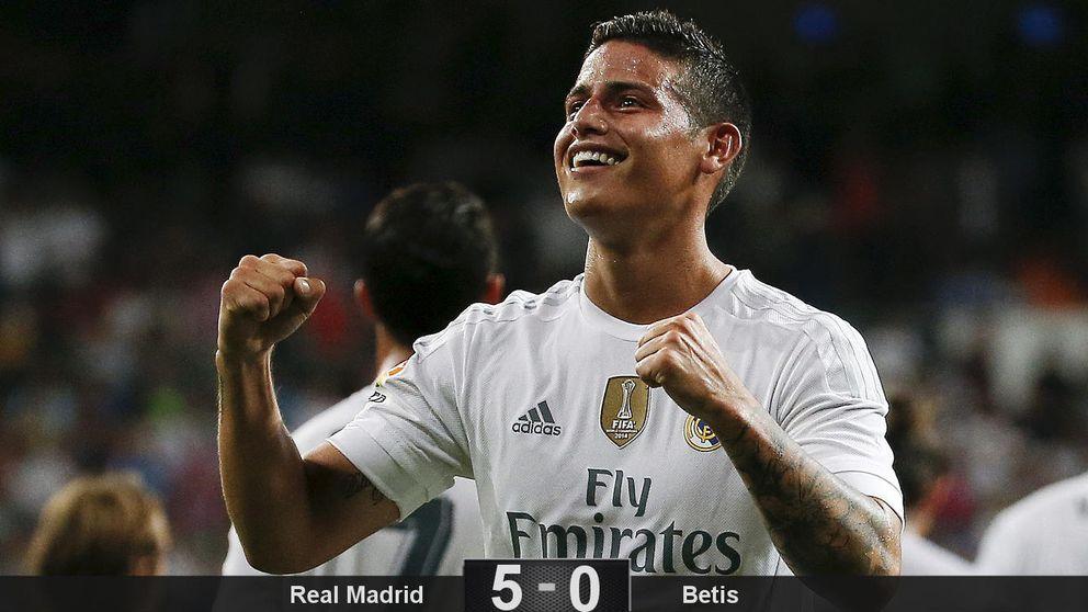 James contagia el gol al Madrid frente al Betis y explica por qué Isco no es titular