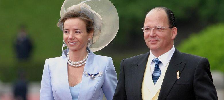 Foto: Miriam Ungría y Kardam de Bulgaria en la boda de los Príncipes de Asturias (I.C.)