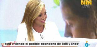 Post de Arrabal recibe a Belén Esteban con una pullita en el programa de Emma García