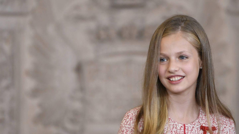 La princesa Leonor, el pasado miércoles, en el Palacio Real. (Limited Pictures)