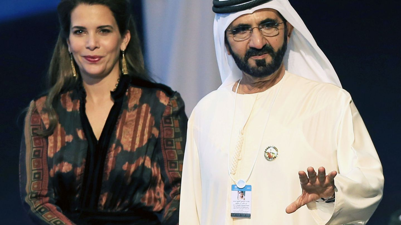 La princesa con el emir. (EFE)