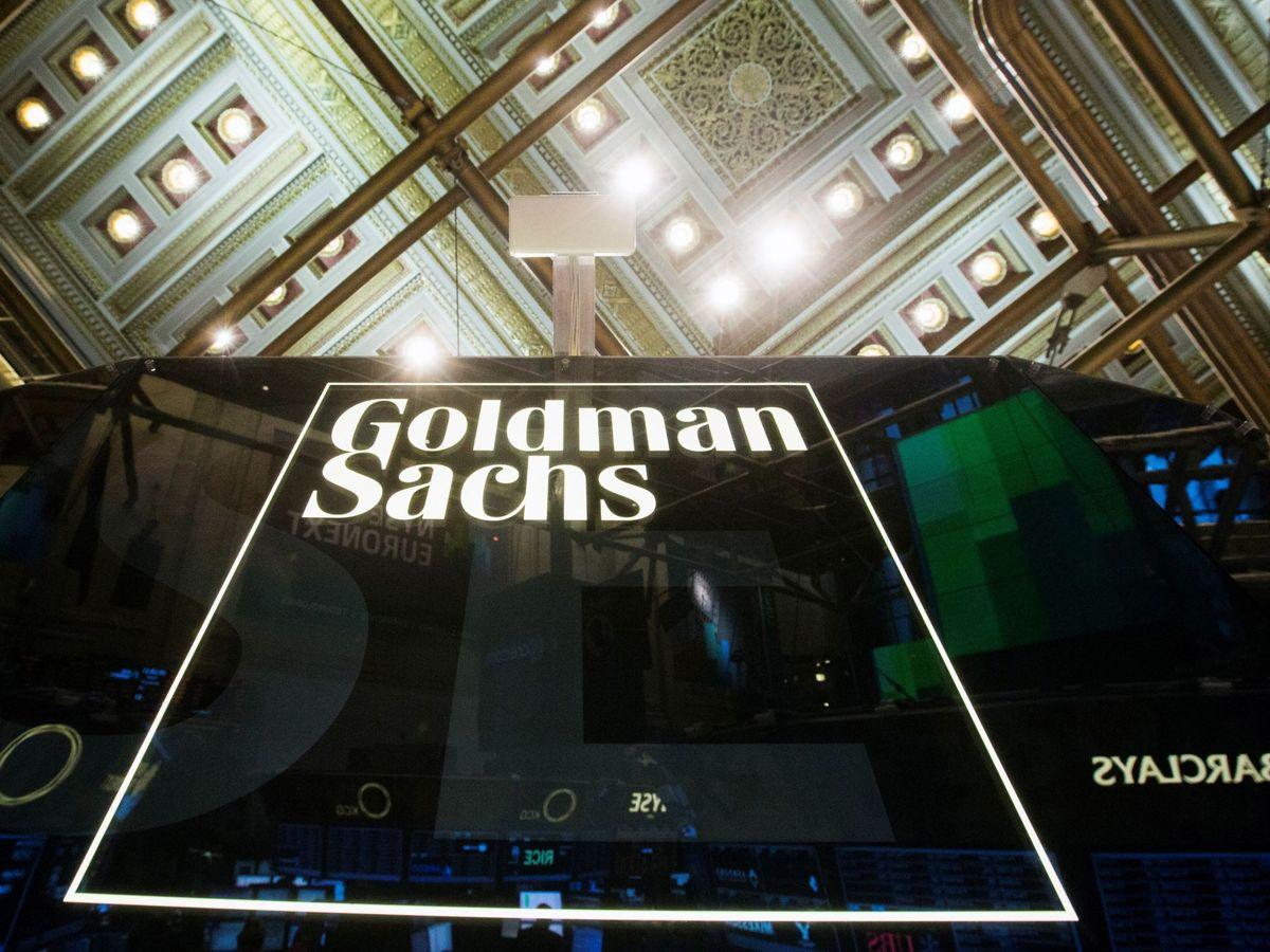Foto: Logo de Goldman Sachs, en la Bolsa de Nueva York. (Reuters)