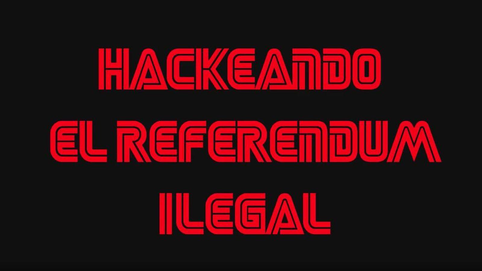 Foto:  Inicio del vídeo en el que se explica el 'hackeo'