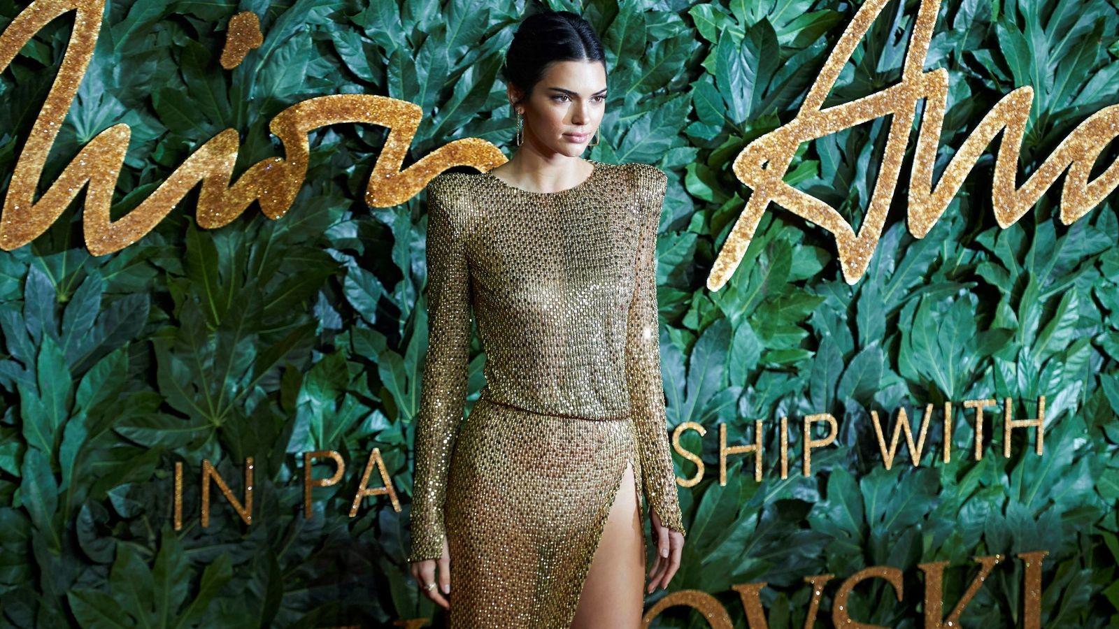 Foto: Kendall Jenner luciendo tipazo en los Premios de la Moda Británica. (EFE)