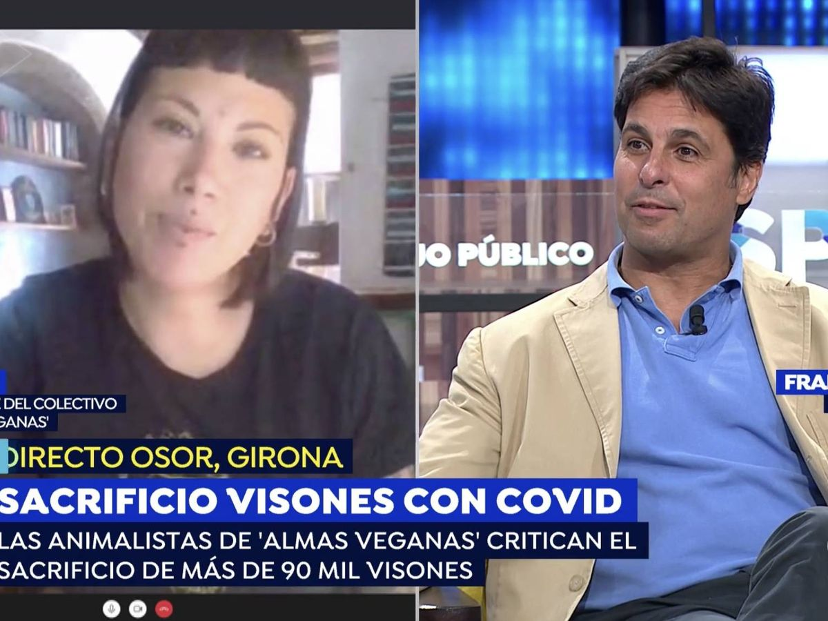 Foto: Fran Rivera en 'Espejo público' con una invitada. (Atresmedia Televisión)