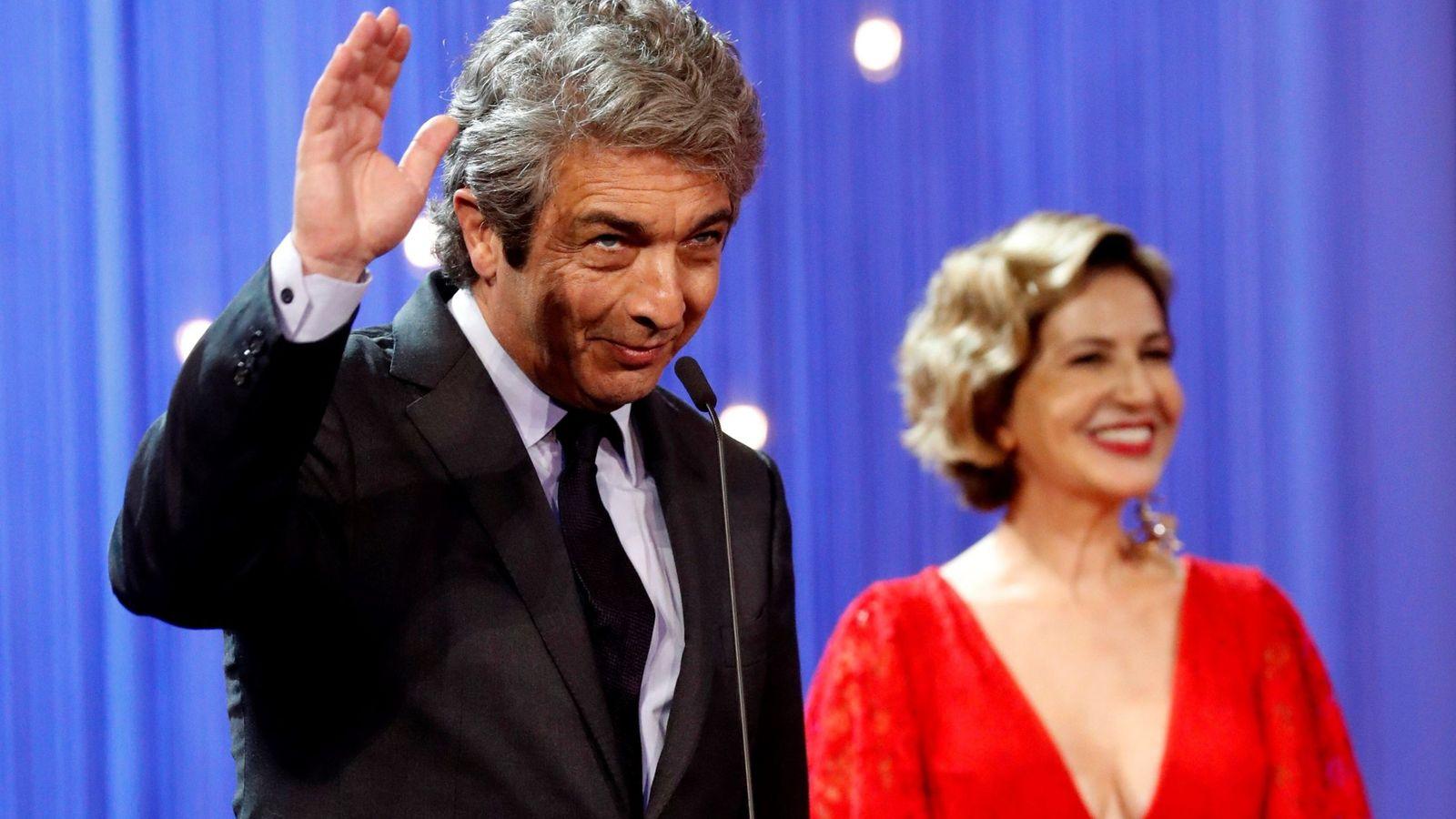 Foto: Ricardo Darín y Mercedes Morán en la gala de inauguración del festival de San Sebastián. (EFE)