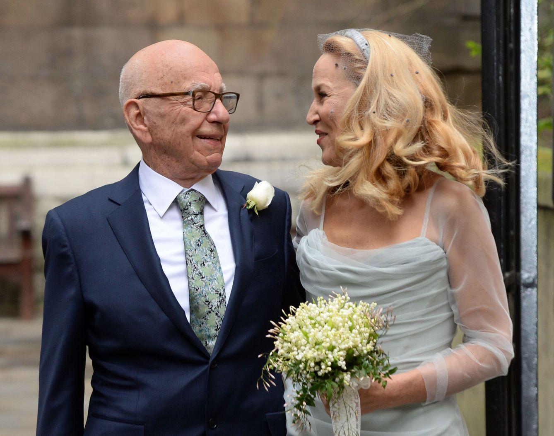 Foto: Así fue la boda religiosa de Rupert Murdoch y Jerry Hall