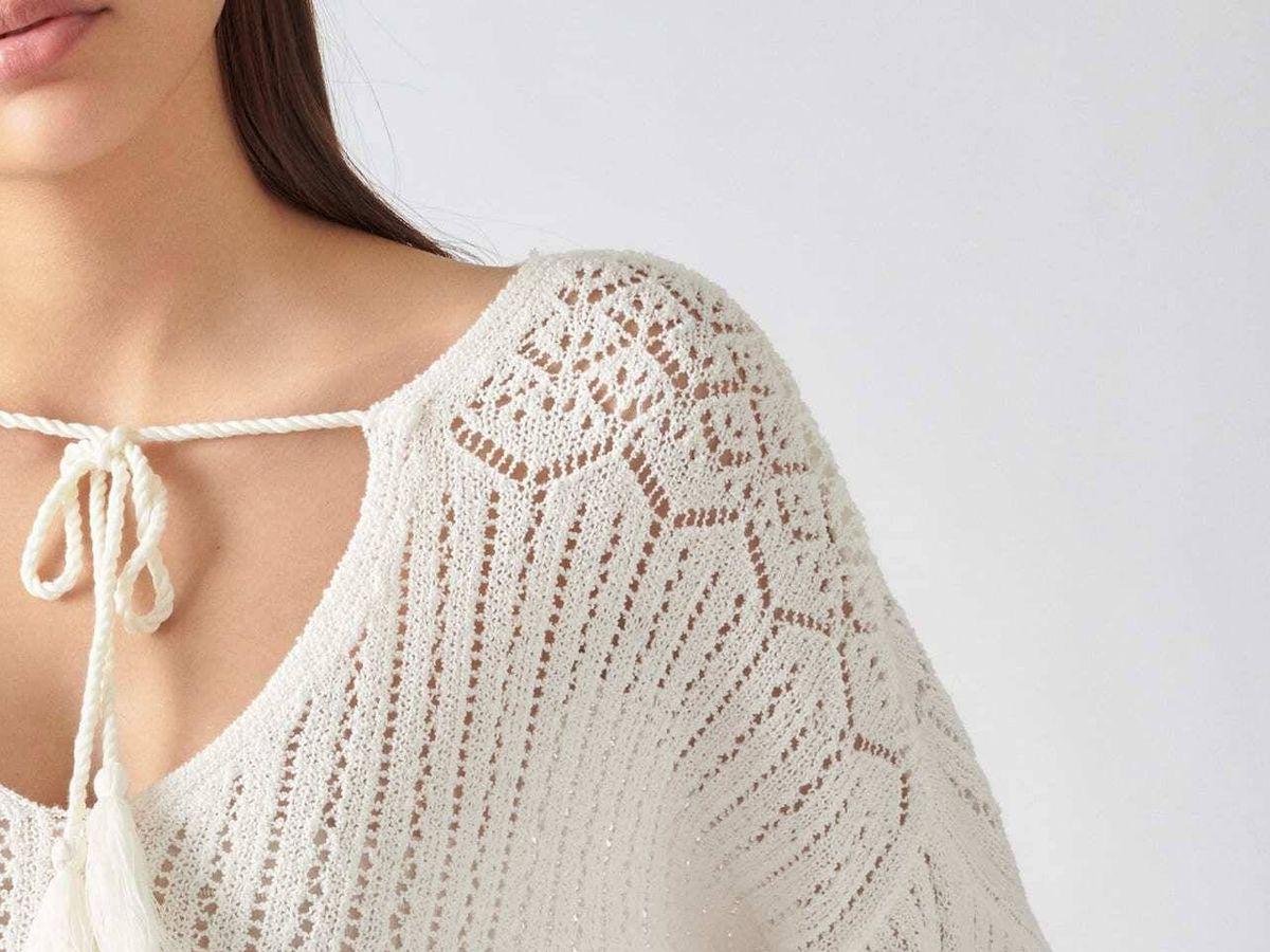 Foto: Jersey de croché de Pull and Bear. (Cortesía)