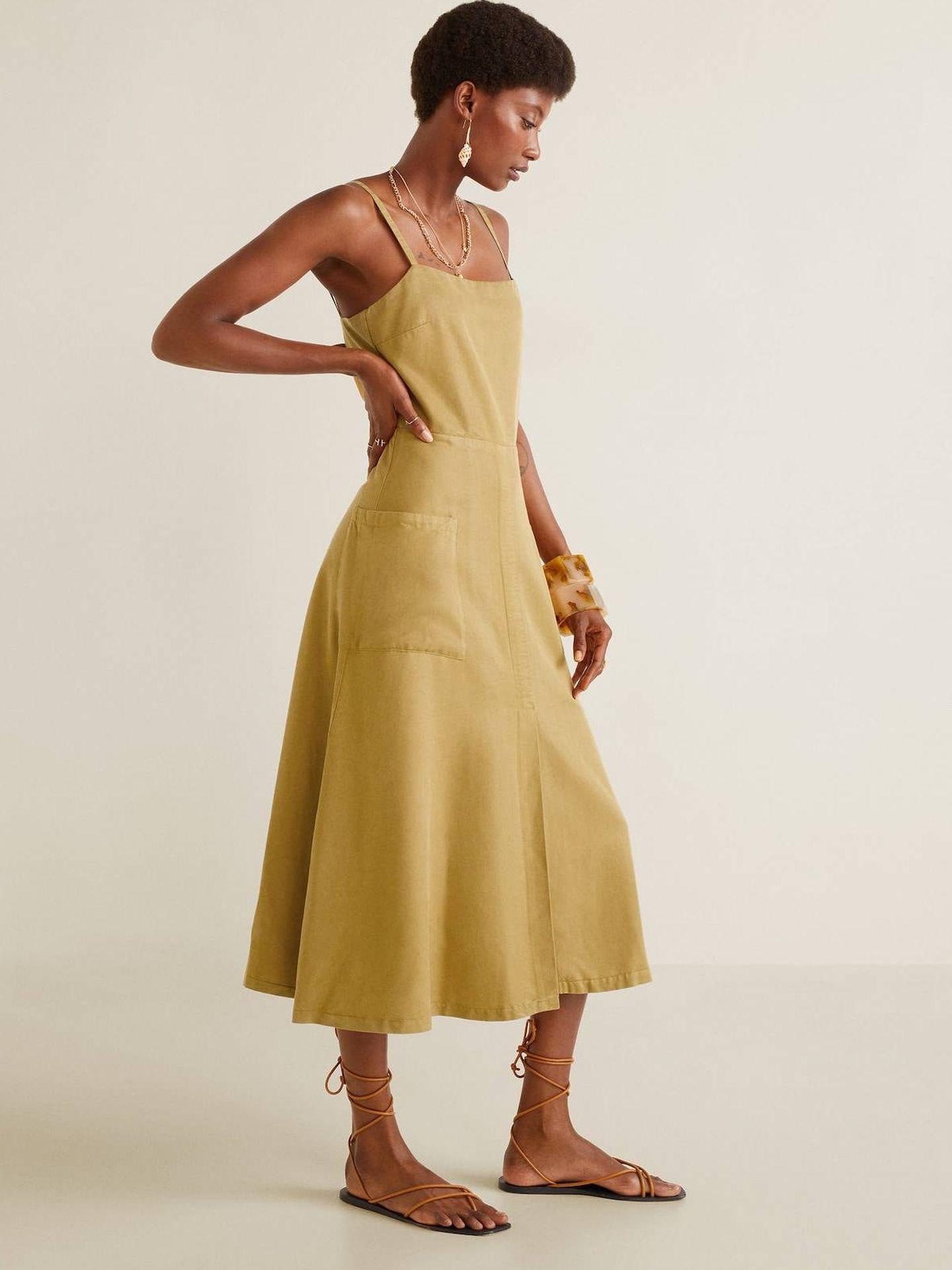 Vestido de Mango Outlet. (Cortesía)