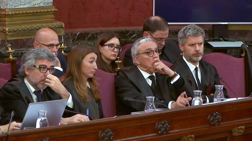 Foto: El abogado Javier Melero (c), durante el juicio al 'procés'. (EFE)