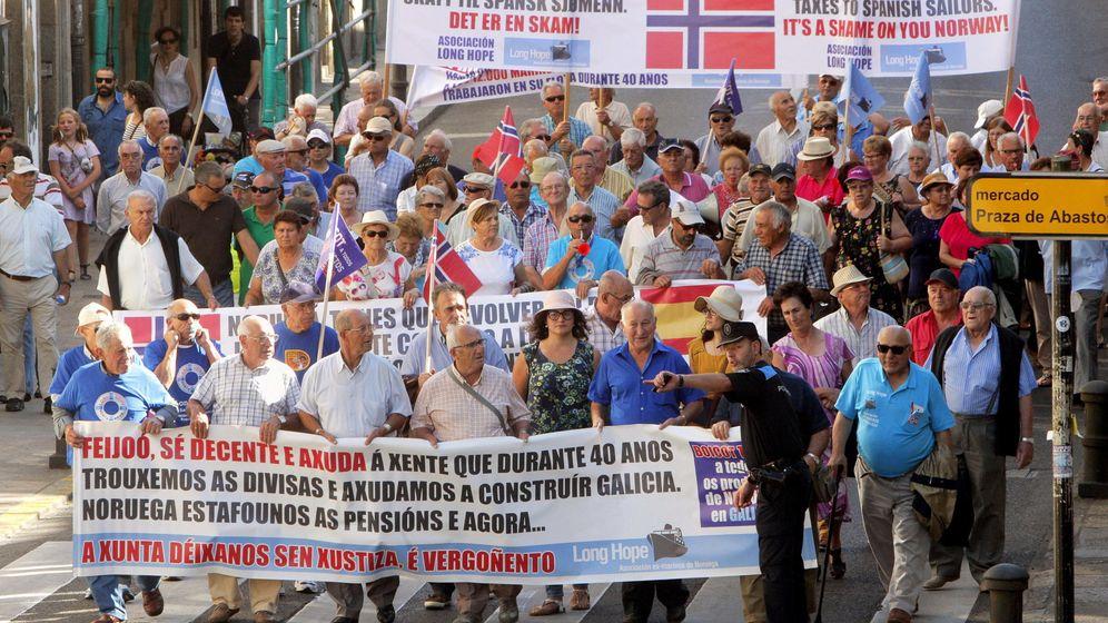 Foto: Manifestación de los marineros gallegos en Santiago de Compostela en 2015. (EFE)