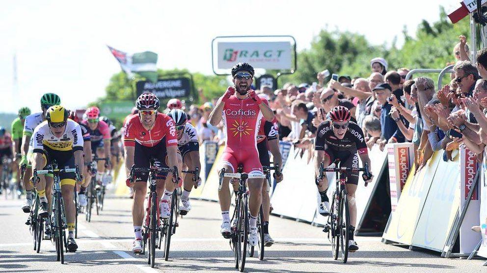 Bouhanni gana el primer sprint del Dauphiné y Contador sigue líder