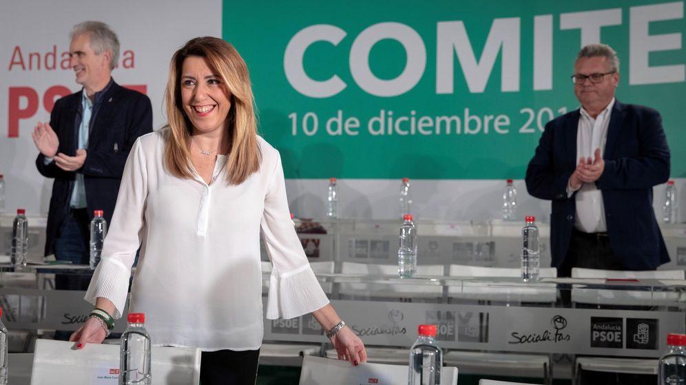 Foto: La secretaria general del PSOE-A y presidenta andaluza en funciones, Susana Díaz. (EFE)