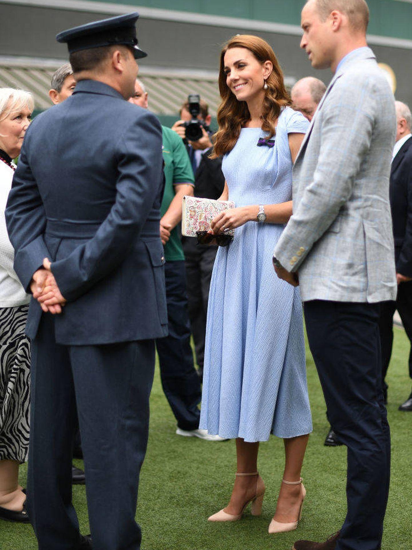 Los duques de Cambridge en Wimbledon 2019. (Getty)