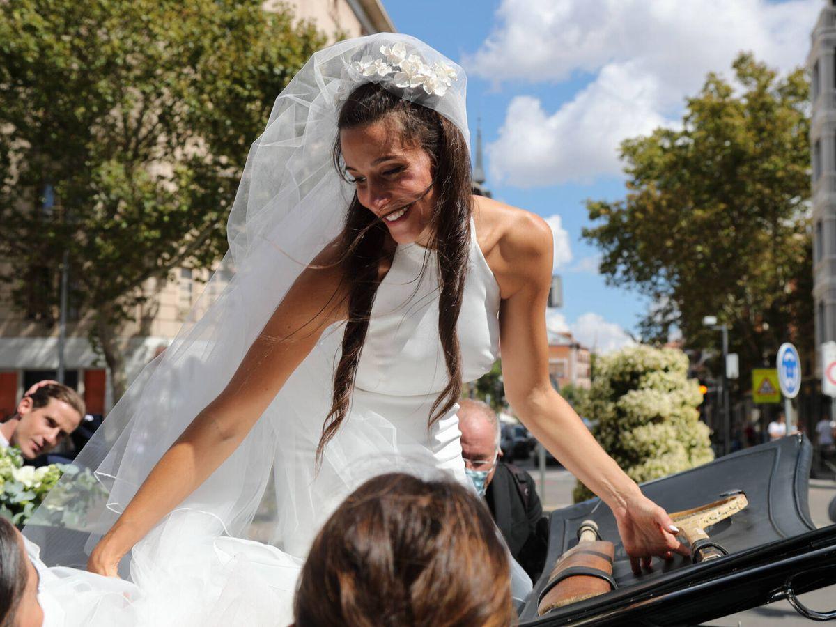 Foto: Rocío Gil en su boda. (Gtres)
