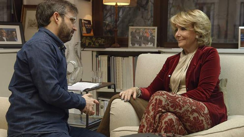 La 'espantada' de Esperanza Aguirre a Jordi Évole en 'Salvados'