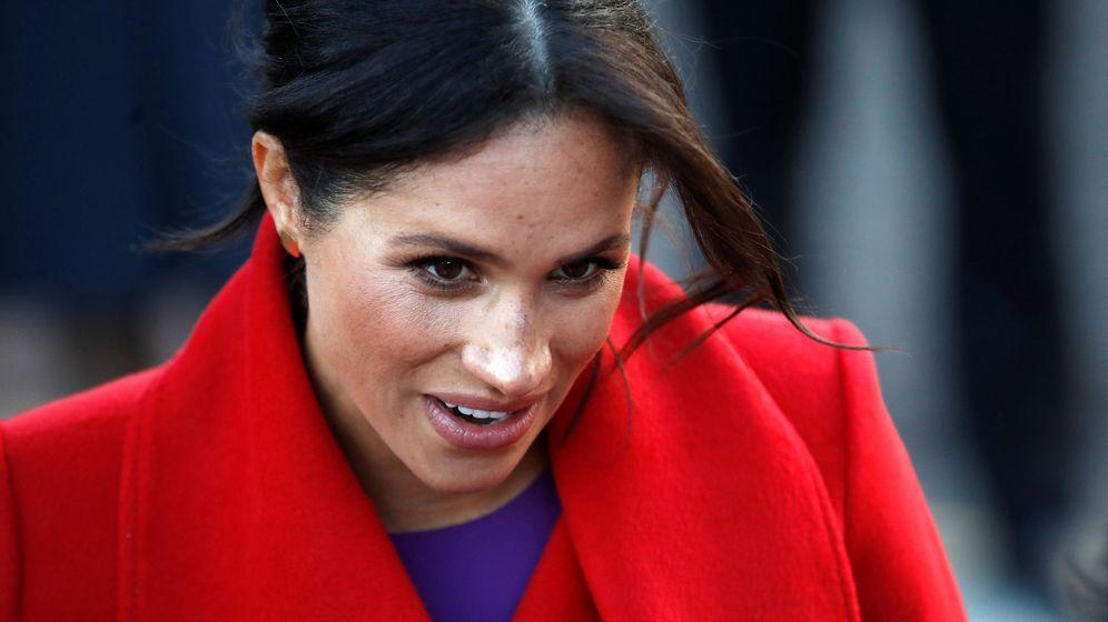 Foto: La duquesa de Sussex en su acto de este lunes. (Reuters)