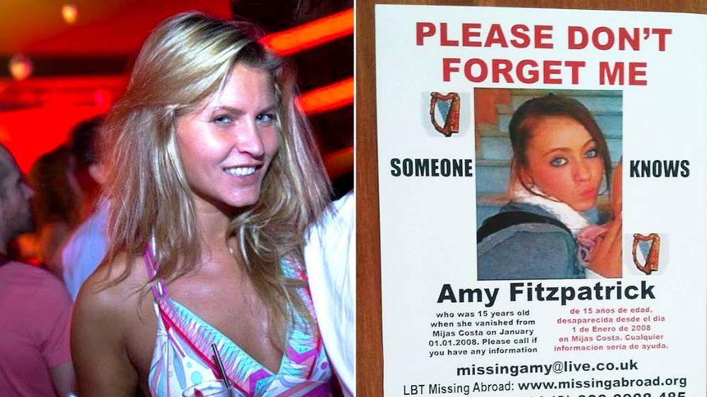 Foto: Fotografías cedidas de Agnese Klavina y un cartel en busca de Amy Fitzpatrick, desaparecidas ambas en la Costa del Sol.