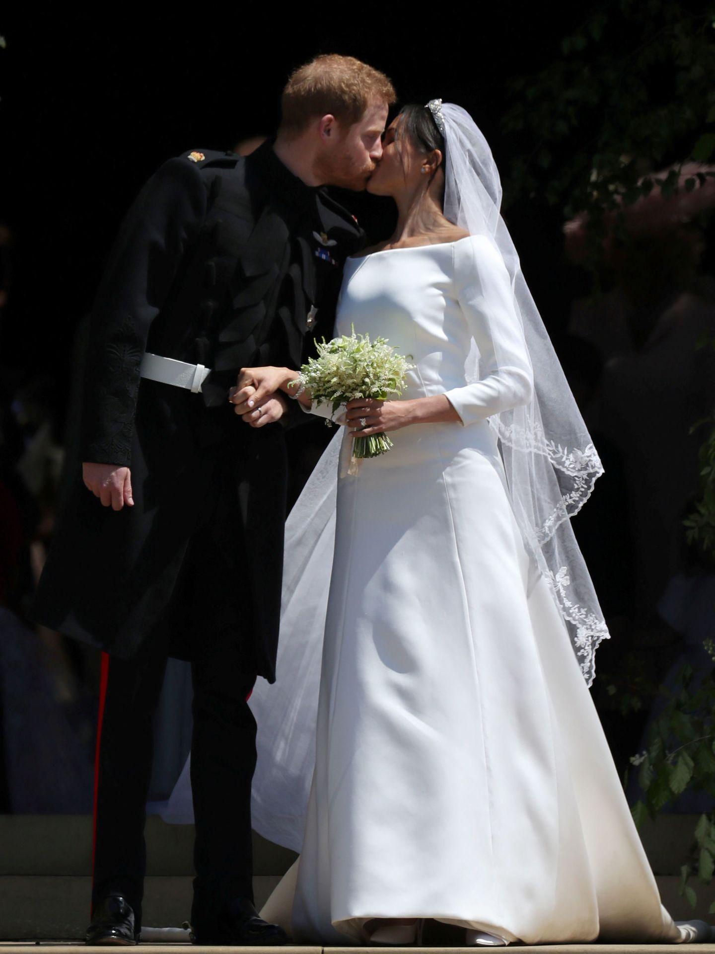 Meghan y Harry, recién casados. (Reuters)