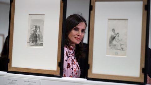 Letizia inaugura una exposición de Goya