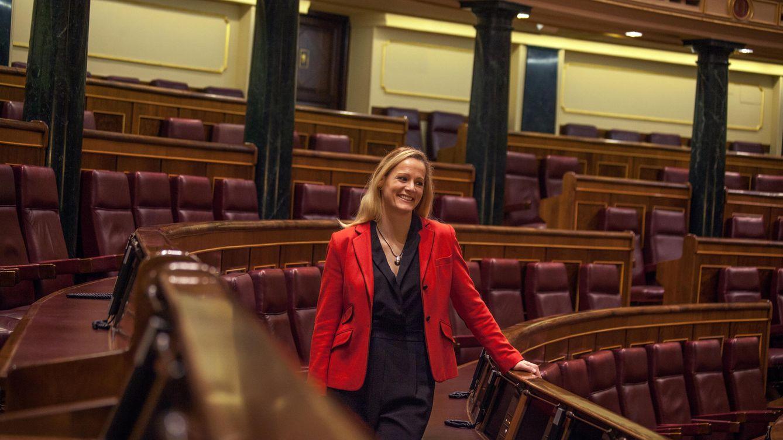 Foto: La diputada socialista Zaida Cantera, en el hemiciclo del Congreso, el pasado marzo. (Enrique Villarino)