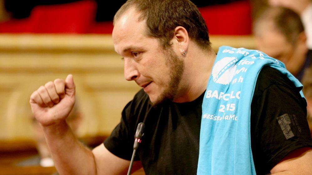 Foto: El exdiputado de la CUP, David Fernández, que este jueves compareció como testigo en el juicio del 'procés'. (EFE)