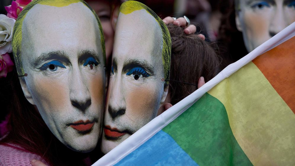 Foto: Protesta contra las leyes 'antigay' en Rusia en 2014 (Reuters)