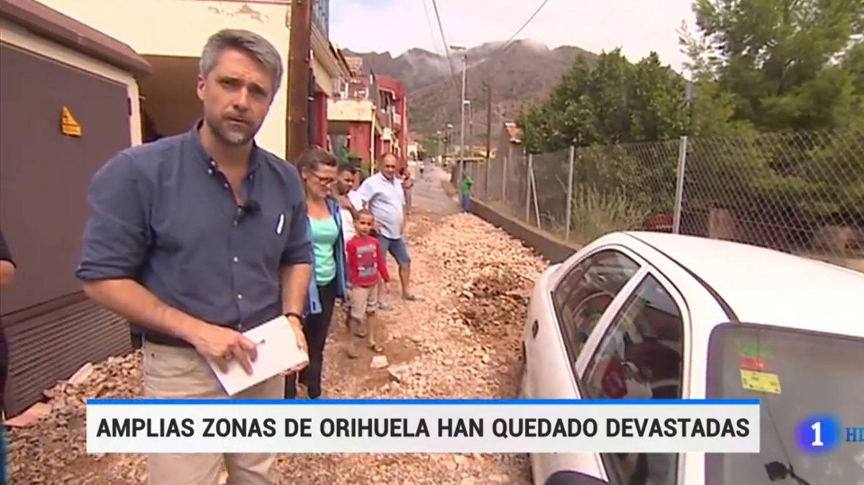 Carlos Franganillo, en 'El Telediario'. (TVE)