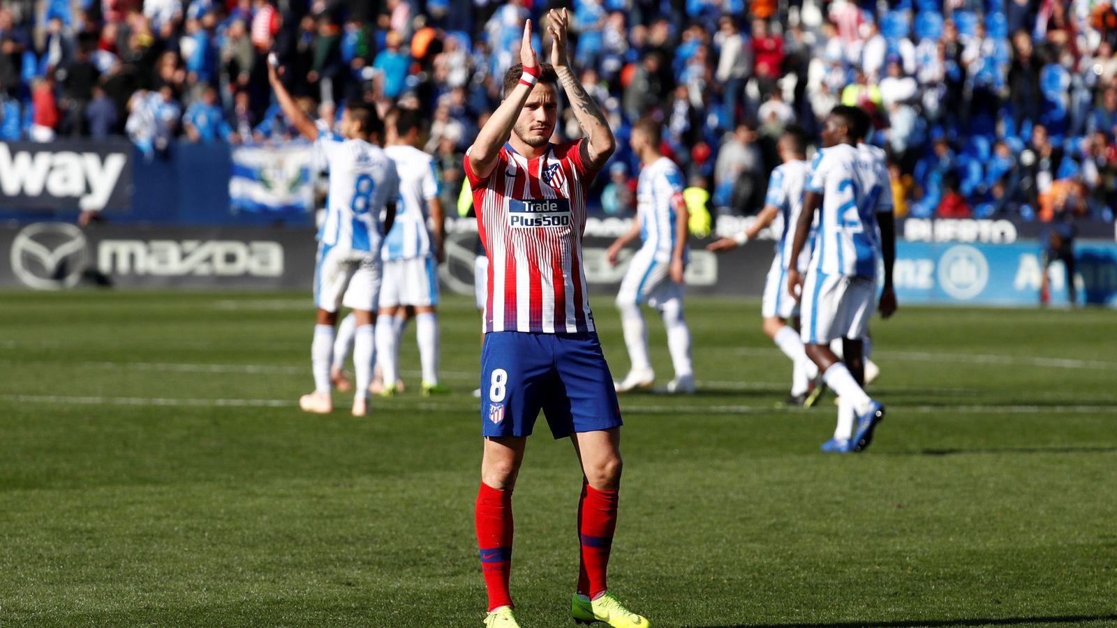 Foto: Saúl en Butarque tras el partido contra el Leganés que acabó en empate. (Efe)