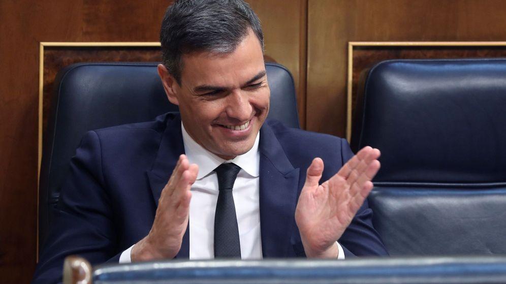 Foto: El presidente del Gobierno, Pedro Sánchez, durante el pleno del Congreso. (EFE)