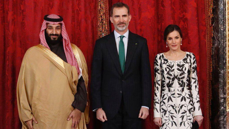 Mohamed bin Salman, príncipe heredero de Arabia Saudita, junto a los Reyes. (Cordon Press)